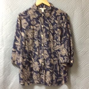 Croft and Barrow collared blouse